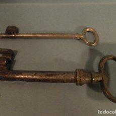 Oggetti Antichi: LLAVES DE ALUMINIO DE 12 Y 14 CM. Lote 82363752