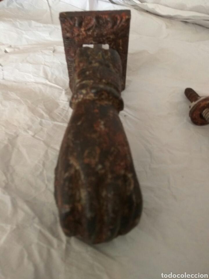ANTIGUO LLAMADOR ALDABA DE HIERRO (Antigüedades - Técnicas - Cerrajería y Forja - Llamadores Antiguos)