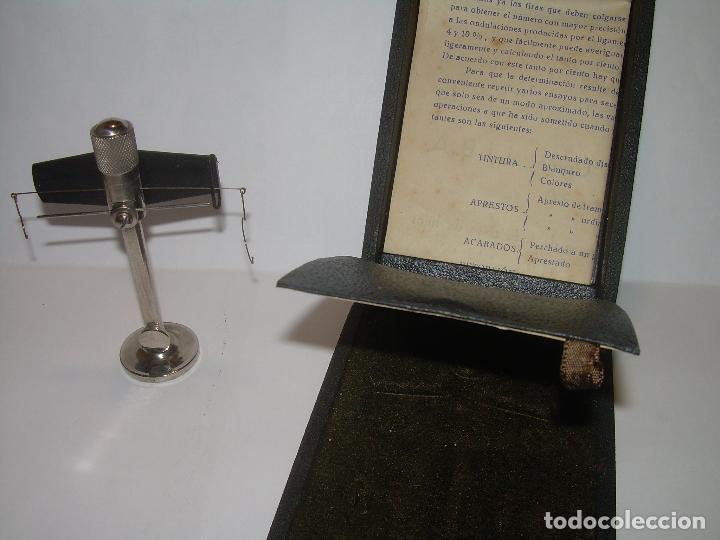 Antigüedades: ANTIGUA BALANZA MICROMETRICA PARA PESAR HILOS... CON SU CAJA ORIGINAL. - Foto 6 - 235541390