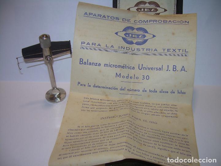 Antigüedades: ANTIGUA BALANZA MICROMETRICA PARA PESAR HILOS... CON SU CAJA ORIGINAL. - Foto 8 - 235541390