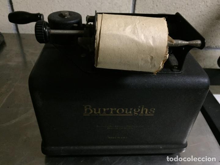 Antigüedades: Calculadora registradora Burroughs 1927 - Foto 7 - 82814631