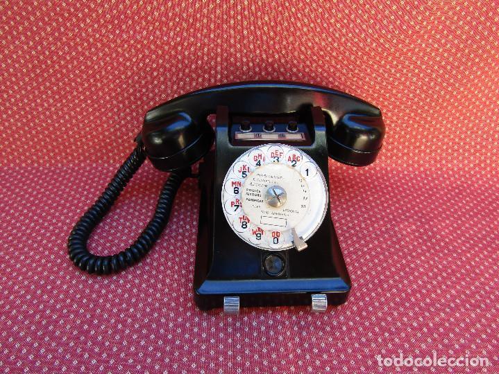 TELEFONO CENTRALITA DE LA MARCA ERICSSON (FRANCIA). MEDIADOS DEL SIGLO XX. (Antigüedades - Técnicas - Teléfonos Antiguos)
