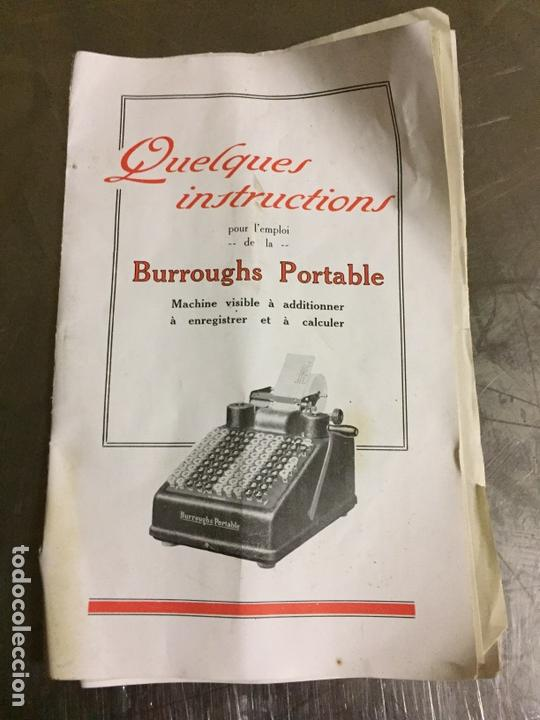Antigüedades: Calculadora registradora Burroughs 1927 - Foto 10 - 82814631