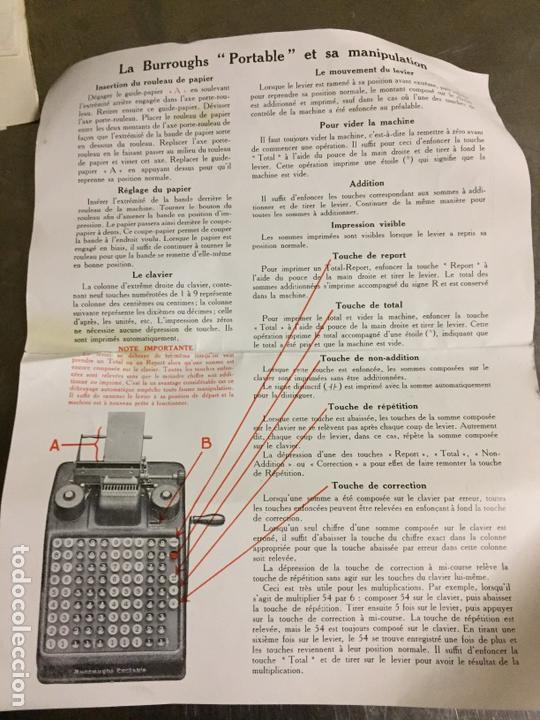 Antigüedades: Calculadora registradora Burroughs 1927 - Foto 15 - 82814631