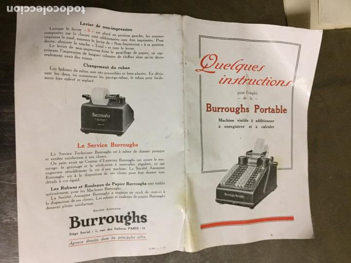Antigüedades: Calculadora registradora Burroughs 1927 - Foto 16 - 82814631
