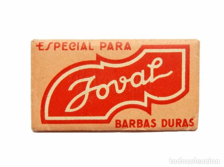 FUNDA DE HOJA CUCHILLA DE AFEITAR MARCA JOVAL (CONTIENE LA HOJA) (Antigüedades - Técnicas - Barbería - Hojas de Afeitar Antiguas)