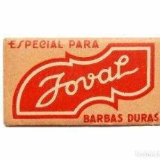 Antigüedades: FUNDA DE HOJA CUCHILLA DE AFEITAR MARCA JOVAL (CONTIENE LA HOJA). Lote 82890620