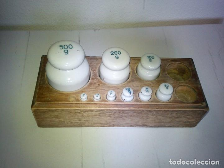 Antigüedades: ANTIGUIOS PESOS DE FARMACIA DE COLECION ANOS 30.40 - Foto 6 - 82903884