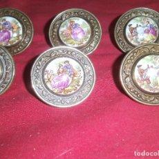 Antigüedades: LOTE DE 12 ANTIGUOS POMOS DE ALACENA. Lote 83058244