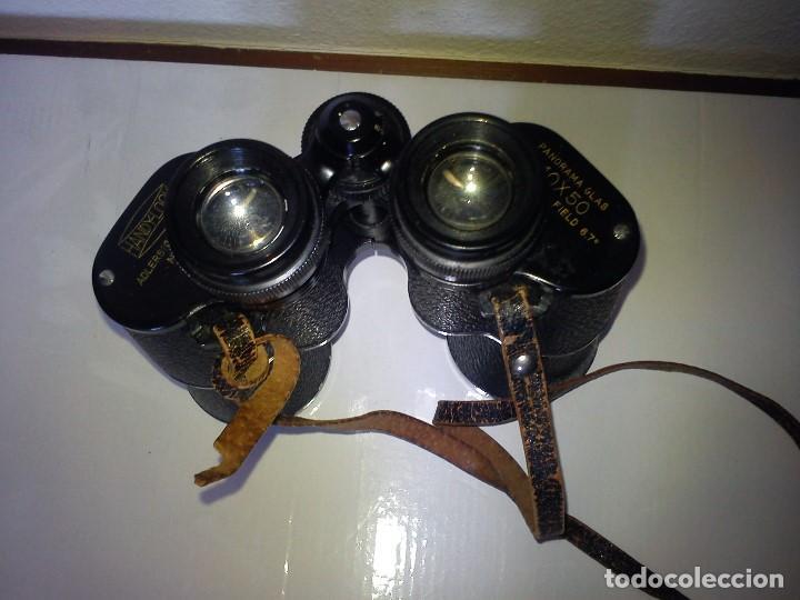 Antigüedades: ANTIGUIOS BINOCULARES HANDY-LOOKN.84162 ADLERSICHT-7 LINSEN . PANORAMA 10X50 FIELD 67 - Foto 3 - 83060032
