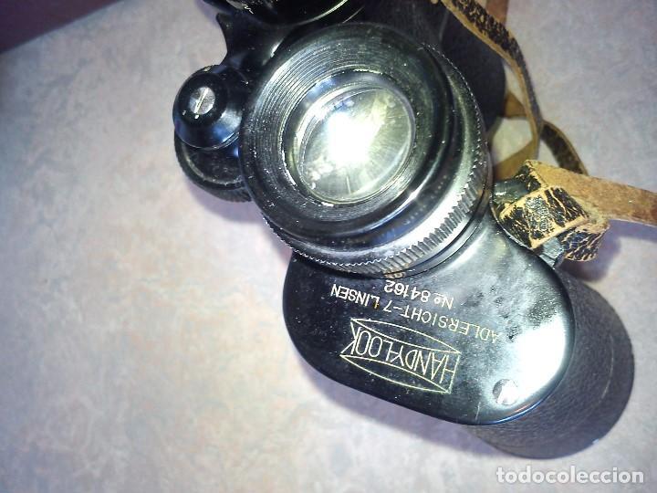 Antigüedades: ANTIGUIOS BINOCULARES HANDY-LOOKN.84162 ADLERSICHT-7 LINSEN . PANORAMA 10X50 FIELD 67 - Foto 4 - 83060032