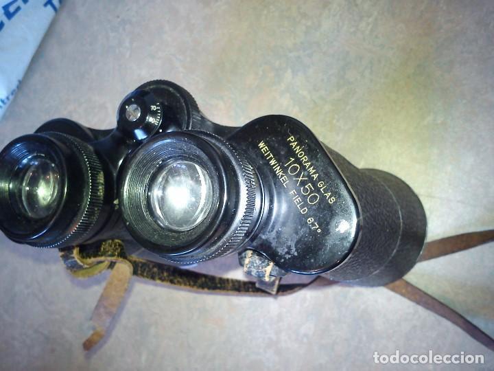 Antigüedades: ANTIGUIOS BINOCULARES HANDY-LOOKN.84162 ADLERSICHT-7 LINSEN . PANORAMA 10X50 FIELD 67 - Foto 5 - 83060032