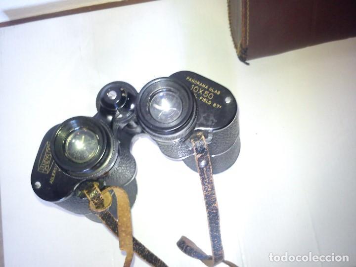 Antigüedades: ANTIGUIOS BINOCULARES HANDY-LOOKN.84162 ADLERSICHT-7 LINSEN . PANORAMA 10X50 FIELD 67 - Foto 7 - 83060032