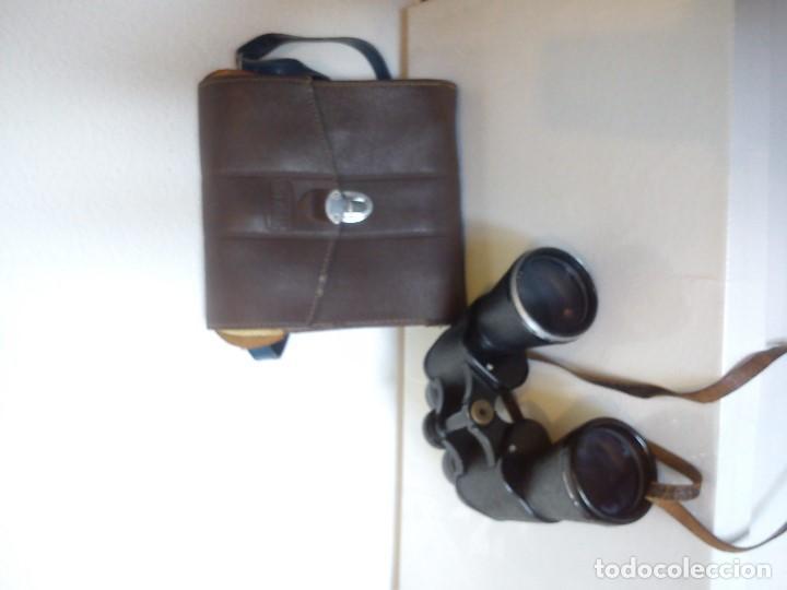 Antigüedades: ANTIGUIOS BINOCULARES HANDY-LOOKN.84162 ADLERSICHT-7 LINSEN . PANORAMA 10X50 FIELD 67 - Foto 10 - 83060032
