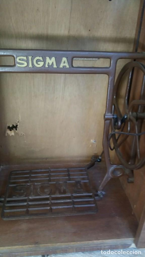Antigüedades: Antigua maquina de coser Sigma - Foto 3 - 83144396
