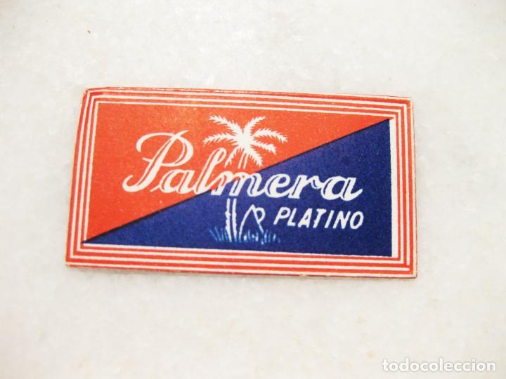 HOJA DE AFEITAR DE LA MARCA PALMERA PLATINO (Antigüedades - Técnicas - Barbería - Hojas de Afeitar Antiguas)