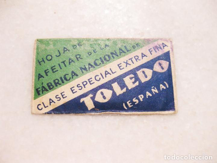 HOJA DE AFEITAR DE LA FABRICA NACIONAL- CLASE ESPECIAL EXTRA FINA - TOLEDO (Antigüedades - Técnicas - Barbería - Hojas de Afeitar Antiguas)