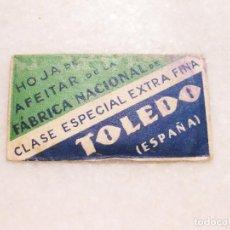 Antigüedades: HOJA DE AFEITAR DE LA FABRICA NACIONAL- CLASE ESPECIAL EXTRA FINA - TOLEDO. Lote 83283492