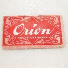 Antigüedades: HOJA DE AFEITAR DE LA MARCA ORION. Lote 83283724