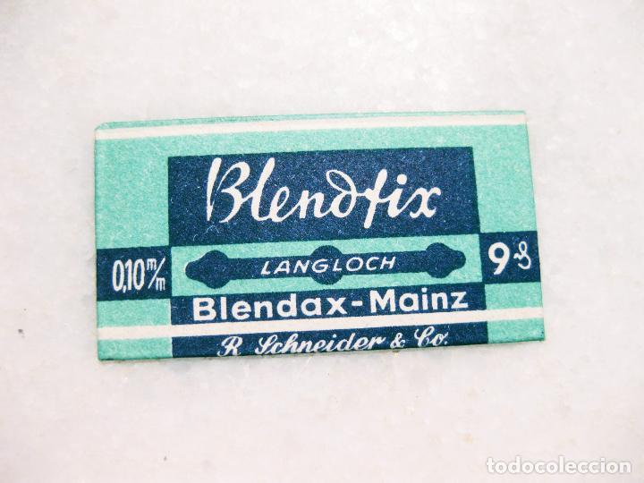 HOJA DE AFEITAR DE LA MARCA BLENDFIX BLEND - MAINZ (Antigüedades - Técnicas - Barbería - Hojas de Afeitar Antiguas)