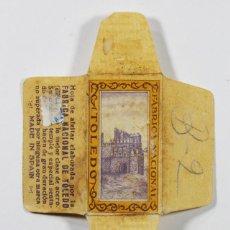 Antigüedades: FUNDA HOJA DE AFEITAR TOLEDO, RAZOR BLADE, LAMETTA DA BARBA, ENVOLTORIO. Lote 83326064
