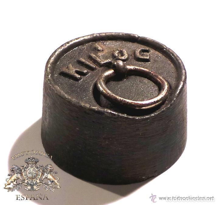 Antigüedades: PESA DE 1 KILO CON SELLO CIMAS DE VALENCIA EN LA BASE - MUY RARA - Foto 7 - 83331836