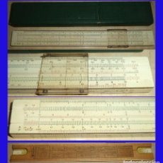 Antigüedades: ANTIGUA REGLA CALCULO FABER CASTELL 1/54 MM 1940 SLIDE RULE MIDE 30/4/1 CM. Lote 83467360