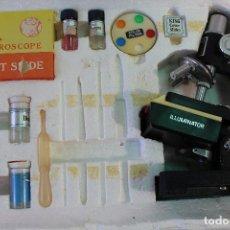 Antigüedades: MICROSCOPIO VINTAGE - AK - MADE IN JAPAN - 14 PIEZAS . Lote 83514360