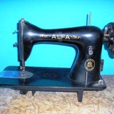 Antigüedades: CABEZAL MAQUINA DE COSER ALFA.FUNCIONA.. Lote 83521948