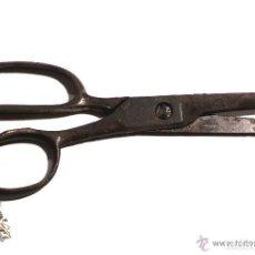 Antigüedades: PRECIOSAS TIJERAS DE FORJA CON SELLO DE FABRICANTE. Lote 83594228