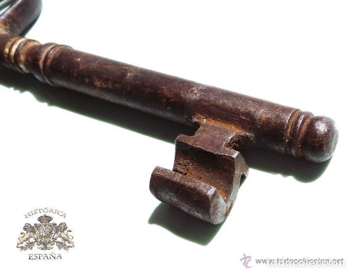 Antigüedades: LLAVE DE FORJA MUY BUEN ESTADO DE CONSERVACIÓN 13,5 CM - Foto 2 - 83599248