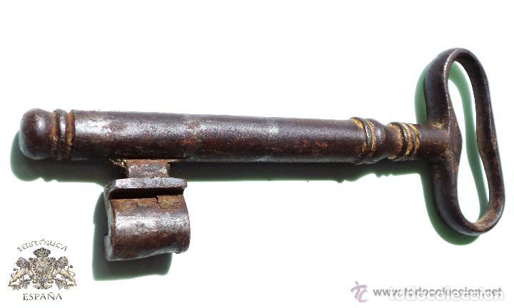 Antigüedades: LLAVE DE FORJA MUY BUEN ESTADO DE CONSERVACIÓN 13,5 CM - Foto 5 - 83599248