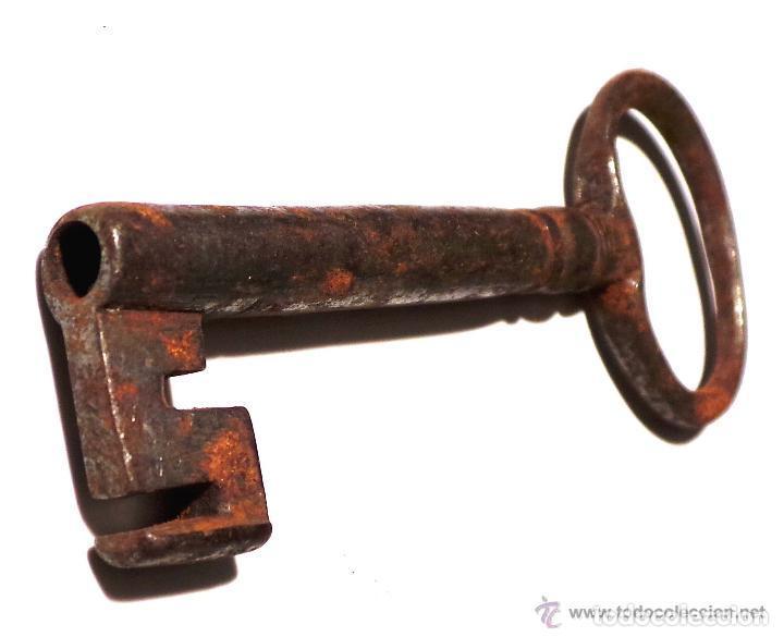 Antigüedades: LLAVE DE FORJA MUY BUEN ESTADO DE CONSERVACIÓN 10,5 CM DE LARGO - Foto 4 - 83599460