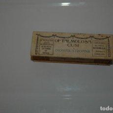 Antigüedades: ANTIGUA CAJA DE OFTALMOLOSA CUSI MEDICAMENTO VER FOTOS. Lote 83641148