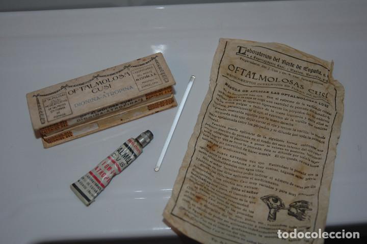 Antigüedades: ANTIGUA CAJA DE OFTALMOLOSA CUSI MEDICAMENTO VER FOTOS - Foto 2 - 83641148