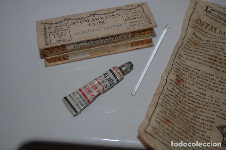 Antigüedades: ANTIGUA CAJA DE OFTALMOLOSA CUSI MEDICAMENTO VER FOTOS - Foto 3 - 83641148