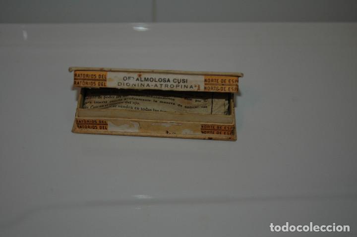 Antigüedades: ANTIGUA CAJA DE OFTALMOLOSA CUSI MEDICAMENTO VER FOTOS - Foto 4 - 83641148