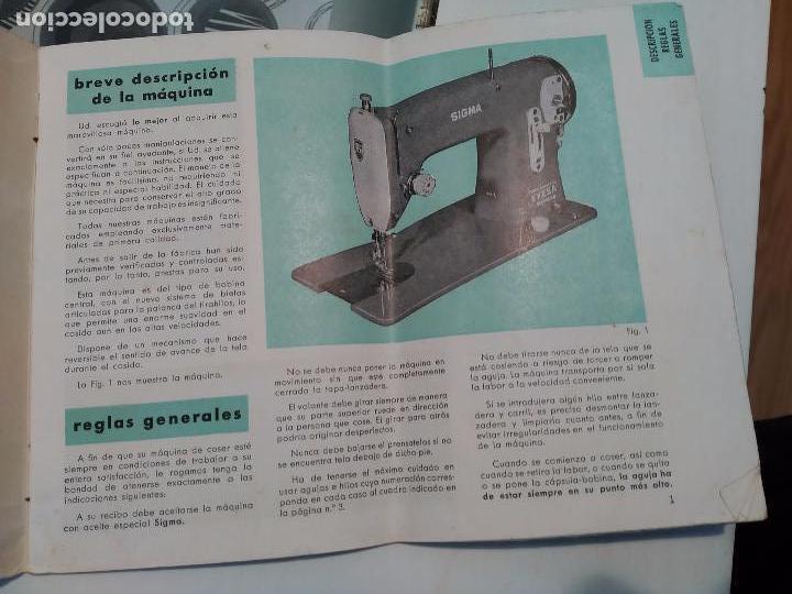 librillo de instrucciones, máquina coser sigma - Comprar