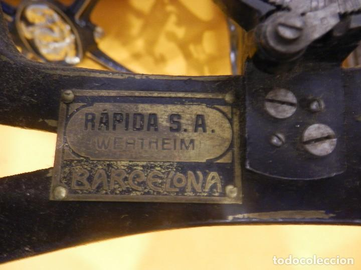 Antigüedades: Fantástica máquina de tricotar Wertheim Rápida SA (Barcelona) - Foto 4 - 83762120