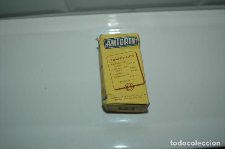 Antigüedades: CAJA DE MEDICAMENTO ANTIGUA - AMIDRIN - BOTE VACIO - VER FOTOS - Foto 2 - 83775632