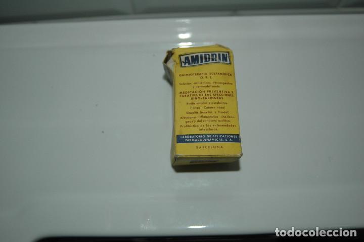 Antigüedades: CAJA DE MEDICAMENTO ANTIGUA - AMIDRIN - BOTE VACIO - VER FOTOS - Foto 3 - 83775632