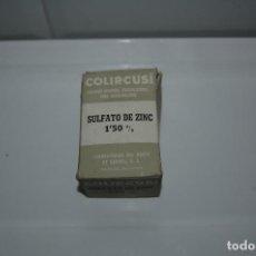 Antigüedades: CAJA DE MEDICAMENTO ANTIGUA - COLIRCUSI -SULFATO DE ZINC - VER FOTOS. Lote 83775680