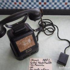 Teléfonos: A002: TELEFONO ANTIGUO ALEMAN DE MANIVELA: CENTRAL WERK PLAATS PTT. Lote 83783492