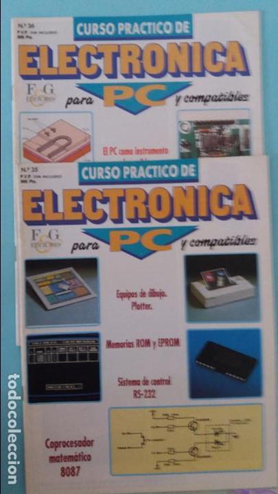 Antigüedades: Lote circuitos placas pbc y chips electronica para pc de fasciculos f&g - Foto 4 - 83823740