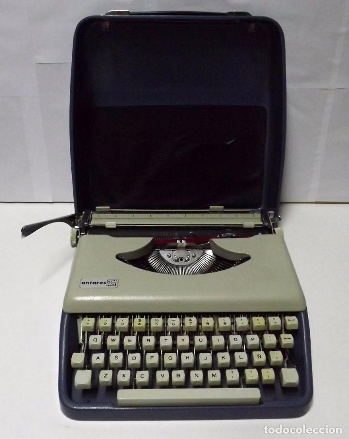 MÁQUINA DE ESCRIBIR ANTARES CON MALETÍN ORIGINAL (Antigüedades - Técnicas - Máquinas de Escribir Antiguas - Otras)