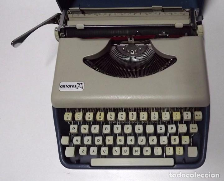 Antigüedades: Máquina de escribir Antares con maletín original - Foto 2 - 83853624