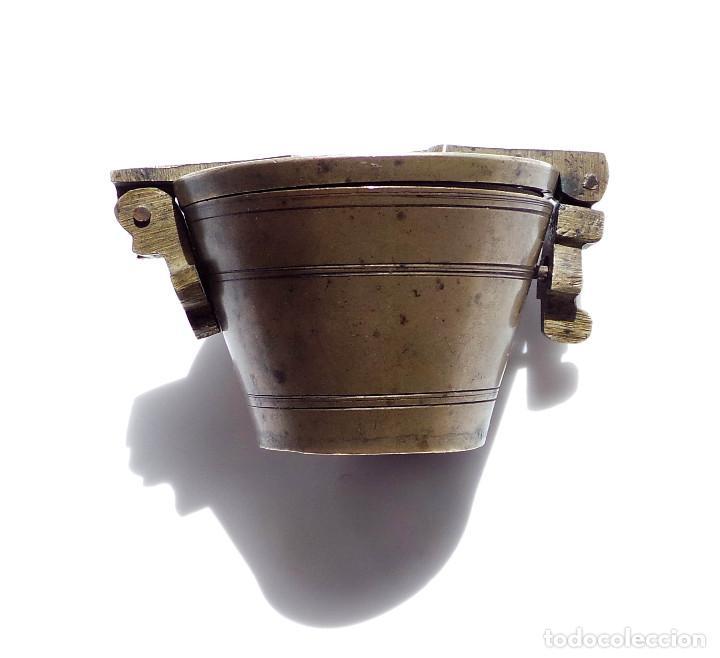 Antigüedades: PONDERALES DE BRONCE P. JUAREZ OVIEDO -SELLOS CRUZ -VASOS ANIDADOS PARA PESAR ORO - SIGLO XVII-XVIII - Foto 12 - 83909240
