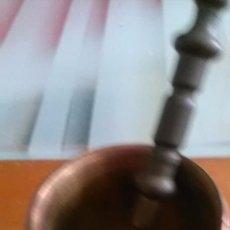Antigüedades: EXCEPCIONAL Y ANTIGUO MORTERO DE BRONCE.. Lote 83971576