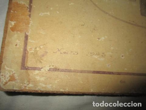Antigüedades: Antiguo poster, plano de un barco pegado encima de una madera. MARS 1943 - Marine Models RH PARIS - Foto 3 - 84126192