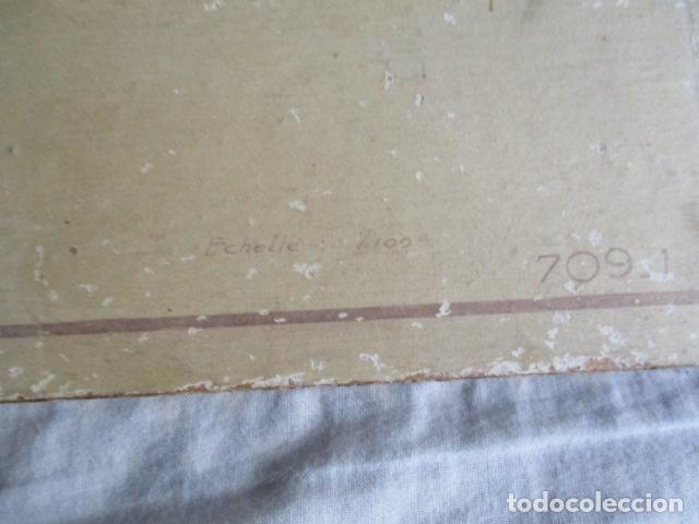 Antigüedades: Antiguo poster, plano de un barco pegado encima de una madera. MARS 1943 - Marine Models RH PARIS - Foto 11 - 84126192
